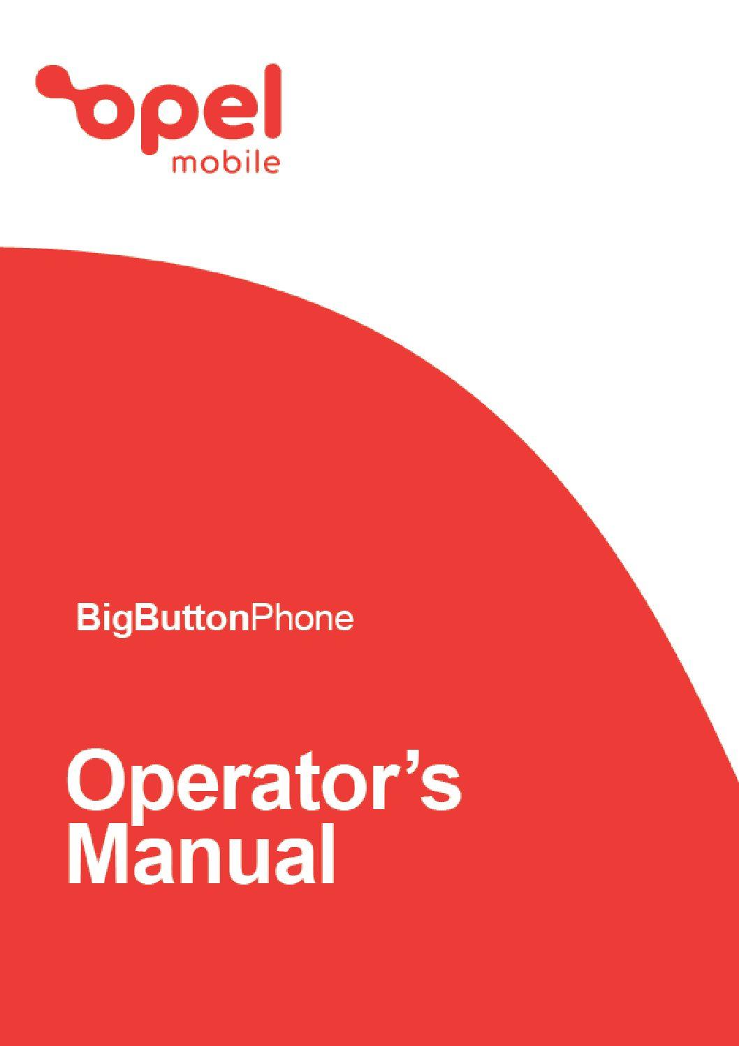 Big Button Operator's Manual