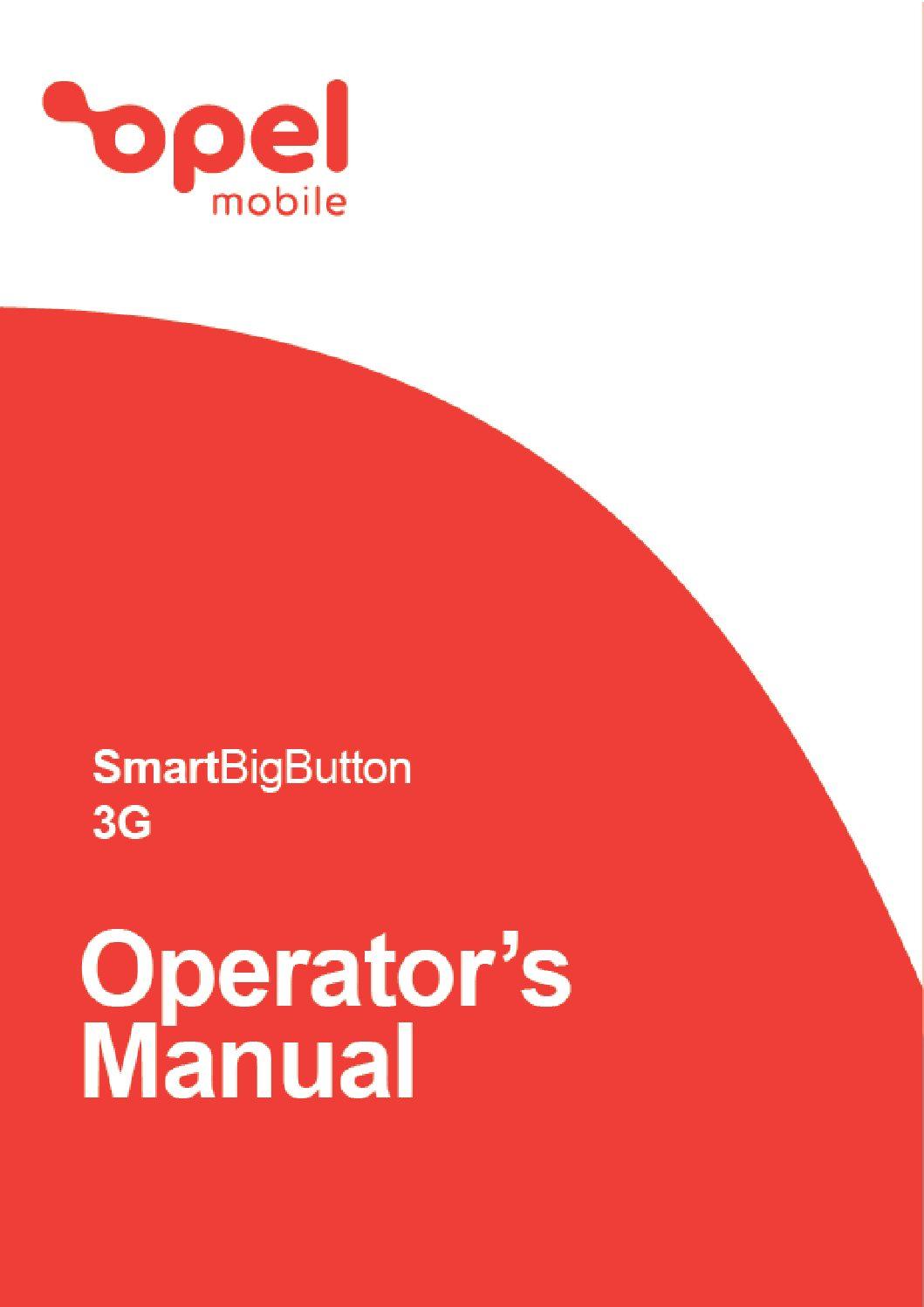 SmartBigButton 3G  Operator's Manual