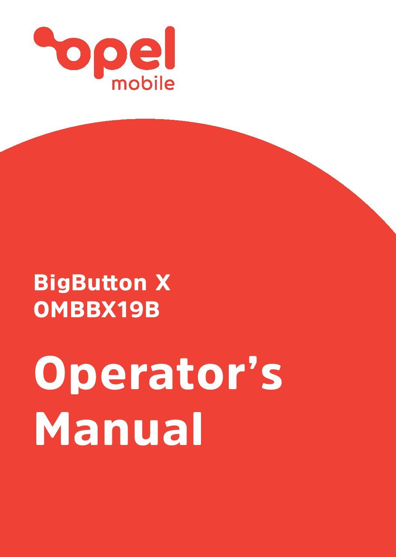 BigButton X Operator's Manual