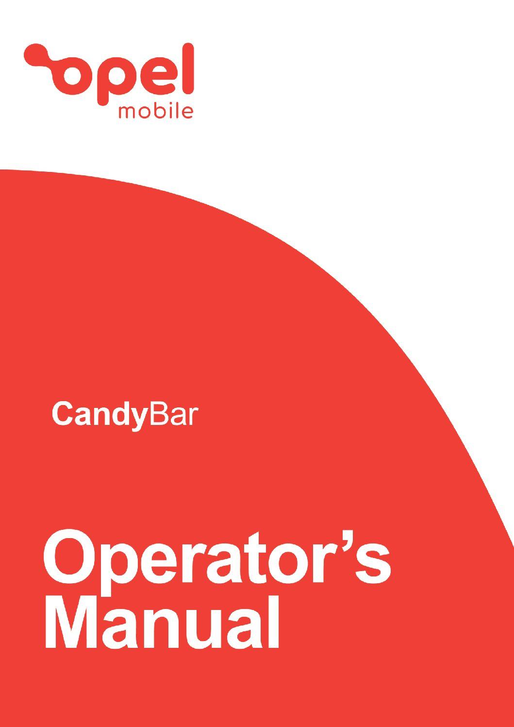 CandyBar Operator's Manual